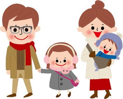 4人家族(冬)