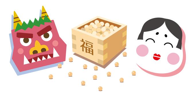 Setsubun Munaku and Oni
