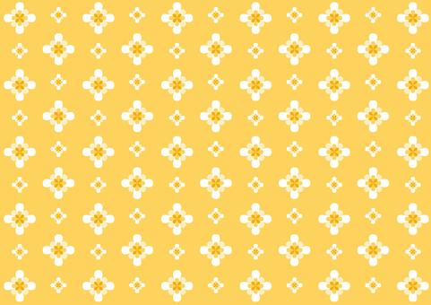 벽지 - 꽃의 둘레 - 오렌지