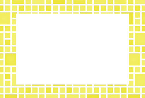 Square Yellow Photo Frame