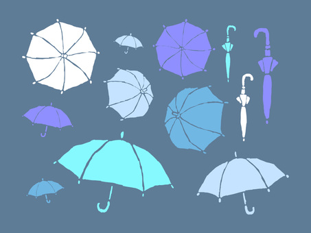 Umbrella seen from various angles