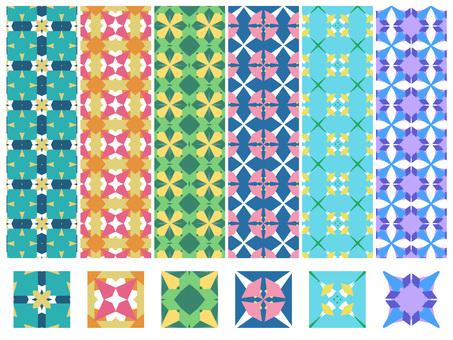 幾何学模様のセット