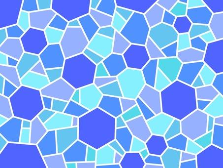 Mosaic blue hexagon summer cool