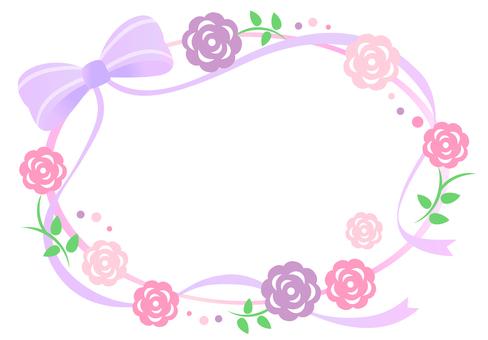 Flower Roses Frame