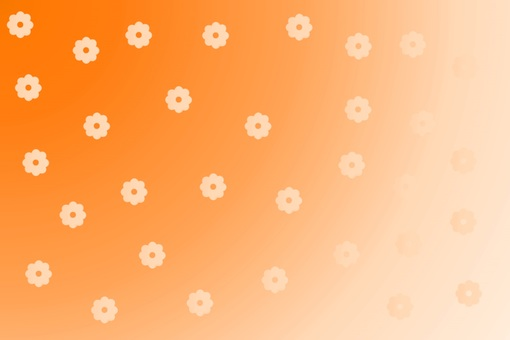 Background material · Flower pattern (Orange)