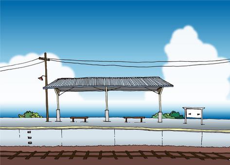바다가 보이는 역