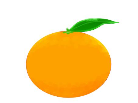 Oil painting style mandarin oranges