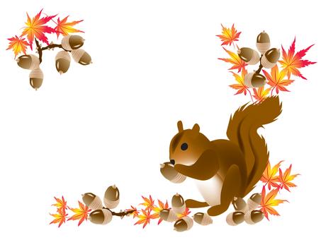 Squirrel Acorn Frame
