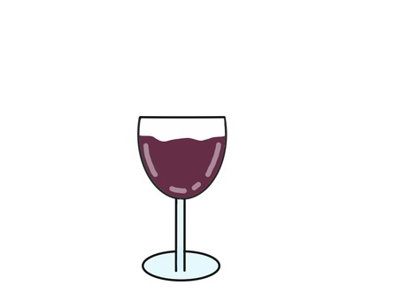 Glass of wine red