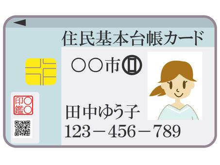 Basic Resident Register Card
