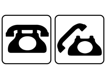 1806 Old phone set
