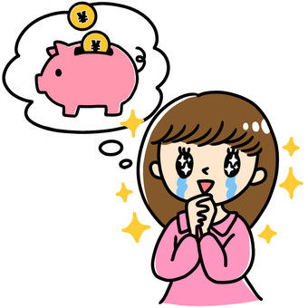 Illustration of a woman crying in the image of savings