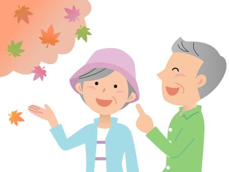 60904. Travel senior, autumn leaves