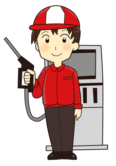 【Work】 The clerk at the gas station