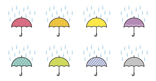 Rain and umbrella 2