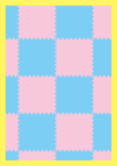 Urethane floor mat pattern