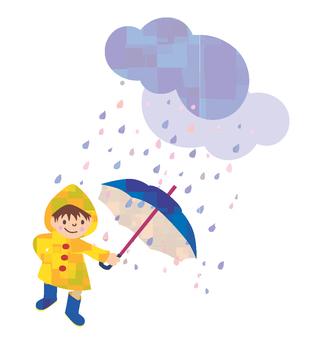Rain and a boy