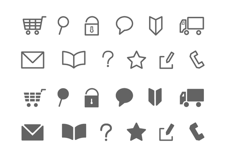 Web icons such as mail order