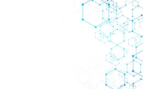六角形背景藍色