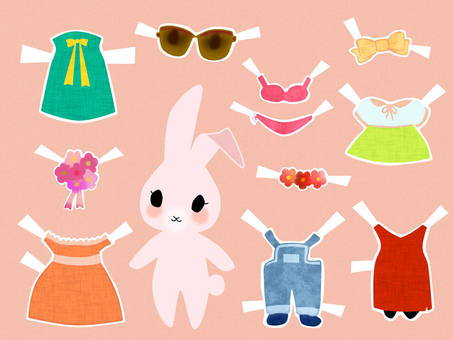 Dress up hare dress 1