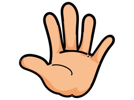 Hand 6 stop (no character)