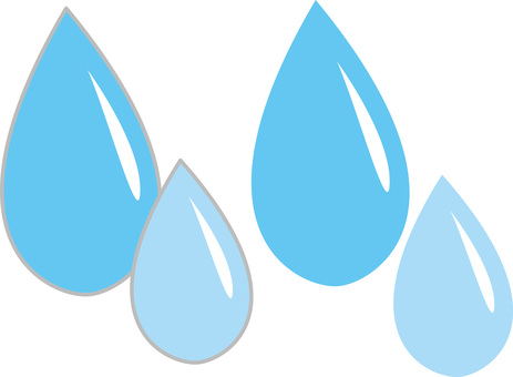 Drops of water drops Water drops Rain drop icon Illustration