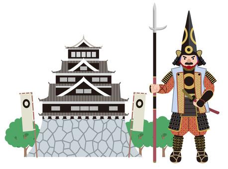 Kumamoto Castle Kiyomasa Kato Illustration