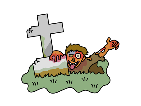 The dead man reviving