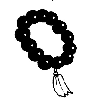 Beads black and white
