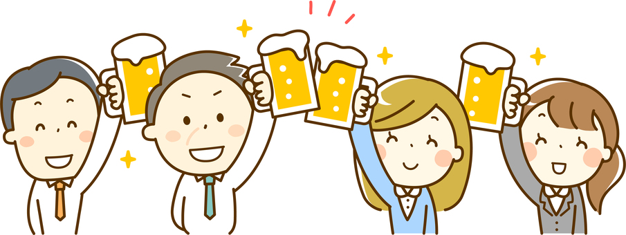 A salaryman who enjoys a drinking party