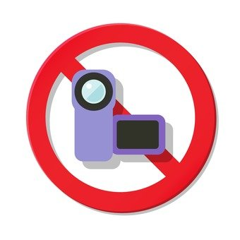 Video shooting prohibited