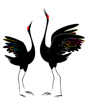 Tsuru 02 pairs silhouette