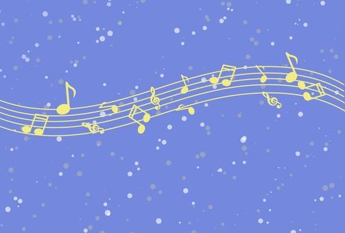 Night sky and music