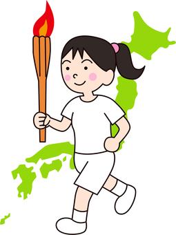 Torch Runner_Women_Japan Background