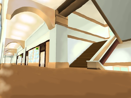 School corridors and stairs B 【Background】