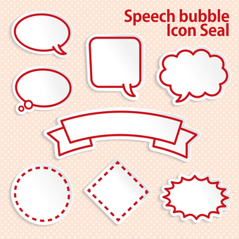Speech balloon frame set