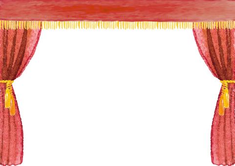 《水彩風》舞台幕
