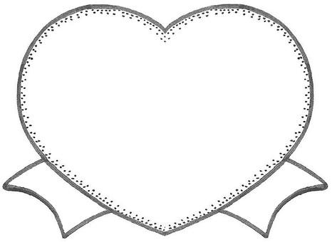 Heart ribbon award medal style