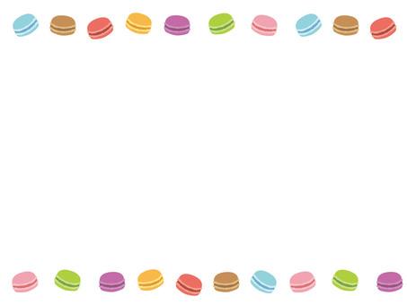 Colorful macaroon line