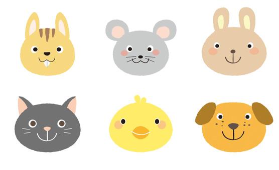 동물의 얼굴 세트 -1
