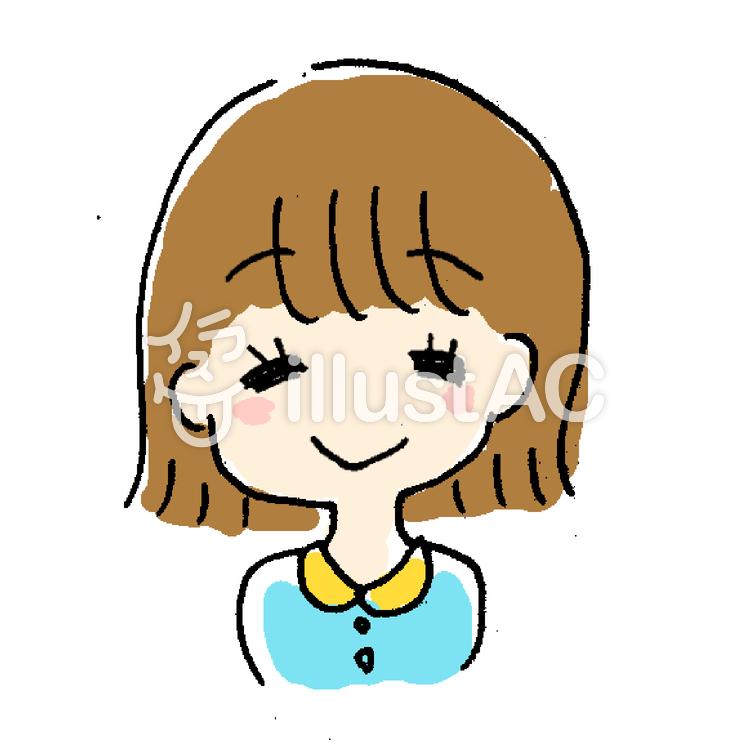 最高の女の子 笑顔 イラスト 簡単 無料イラスト集