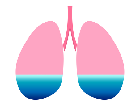 Water accumulates in the lungs