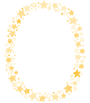 Water color star circle frame 8