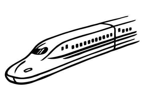 Hand-drawn _ Shinkansen