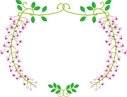 Wisteria frame _ thin pink