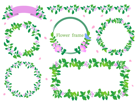 Flower frame set 1