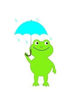 An umbrella frog
