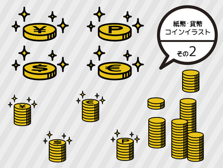 Money, coin illustration <2>