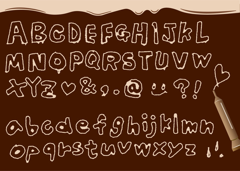 Fonts like those written in chocolate pens