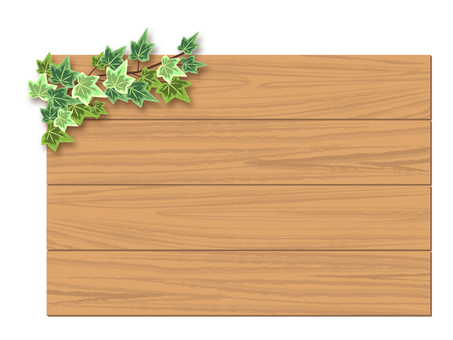 Wooden board and ivy frame 01
